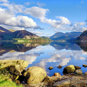 Mountain reflection in the Lake District