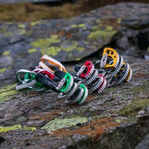 Cams for outdoor rock climbing