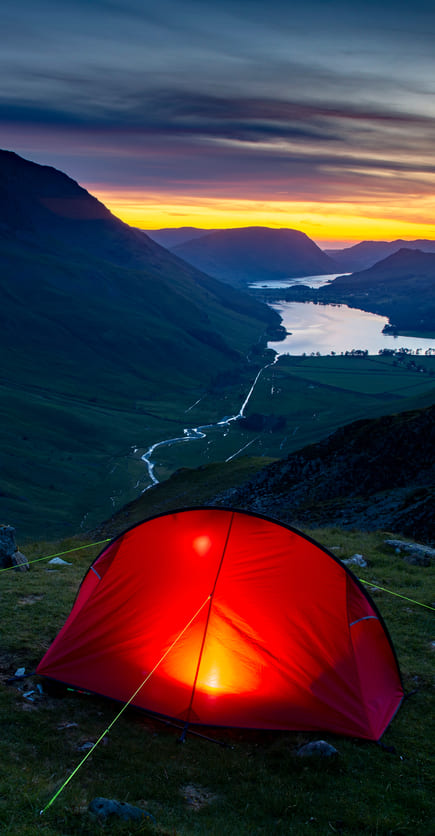 Wild Camp spot in the Lake District